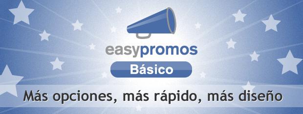 Easypromos Básico - Más opciones, Más diseño, Más rápido, Más personalización