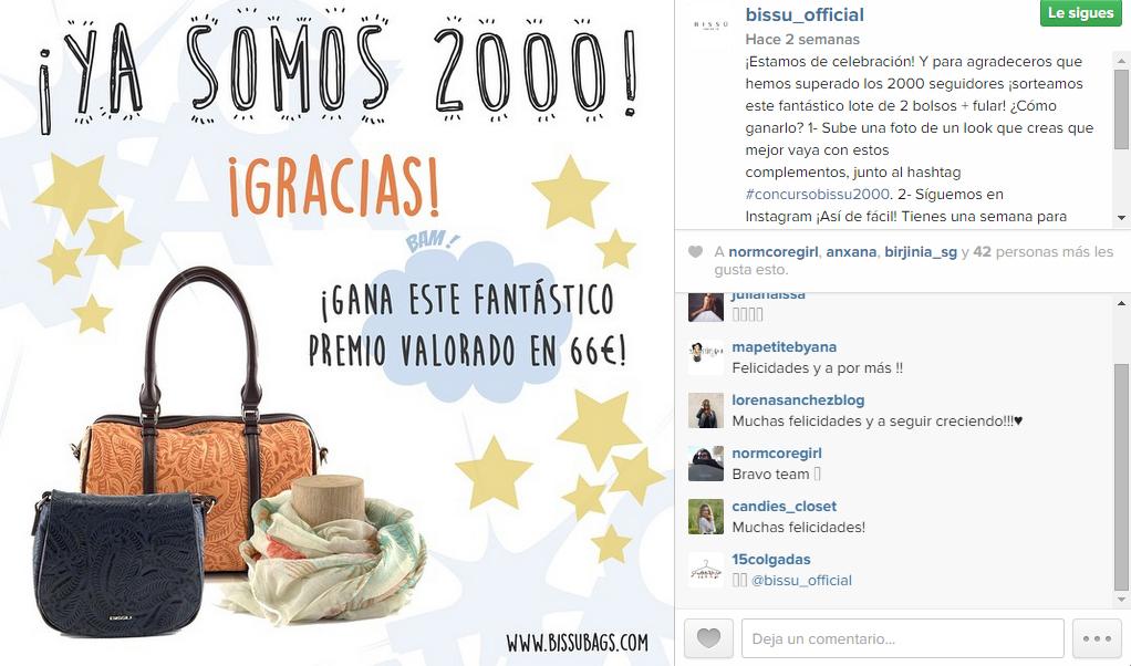 bissu concurso instagram