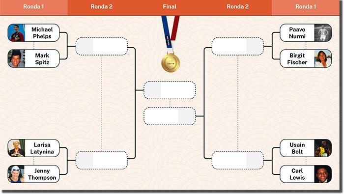torneo online para escoger el mejor deportista de los juegos olímpicos