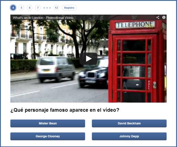 promocionar un video con un cuestionario