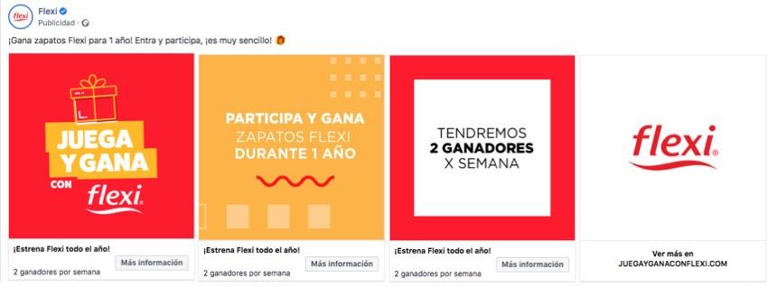 comunicacion en facebook e instagram sobre juego promocion