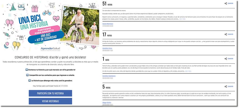 contenido generado por los ciclistas