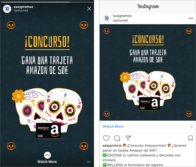 publicidad en redes sociales concurso catrinas