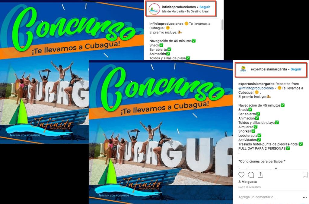 concurso cobranding Instagram