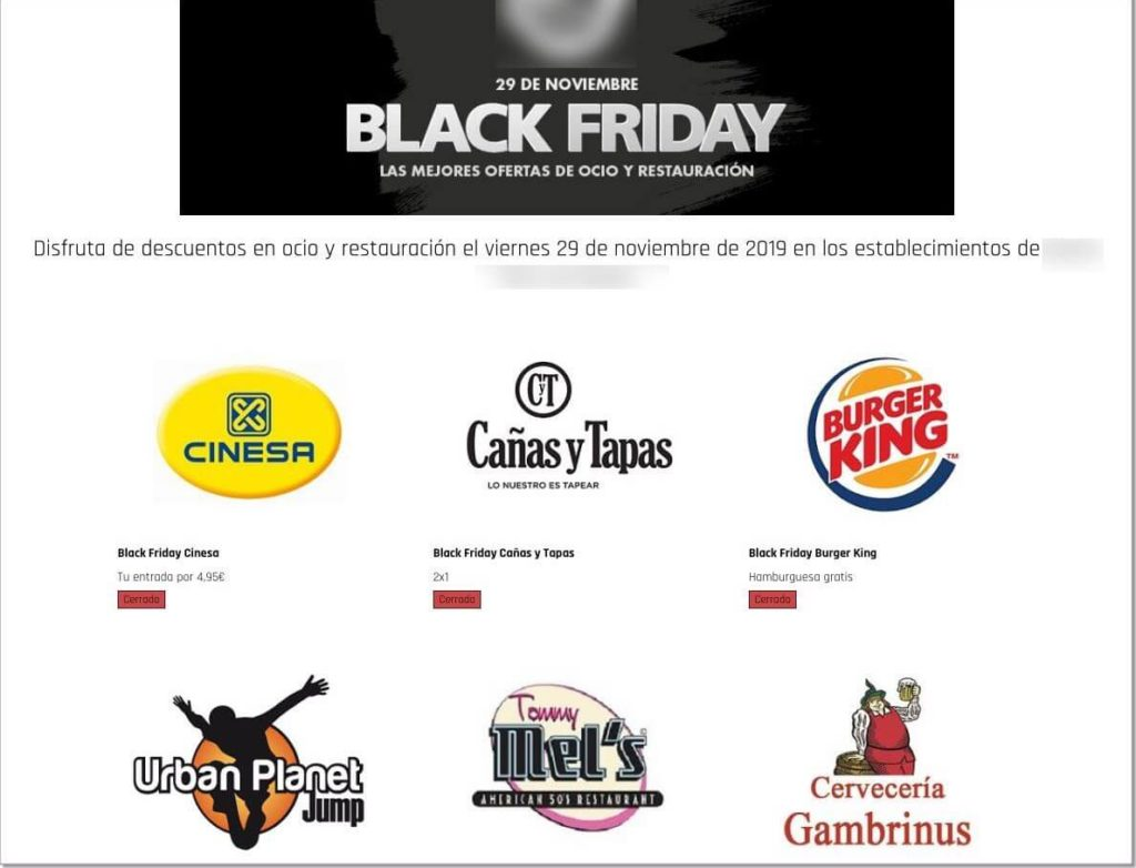 cuponera black friday centro comercial