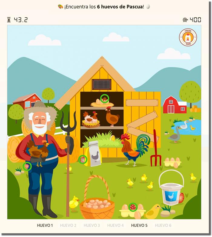 ejemplo de juego para buscar huevos de pascua