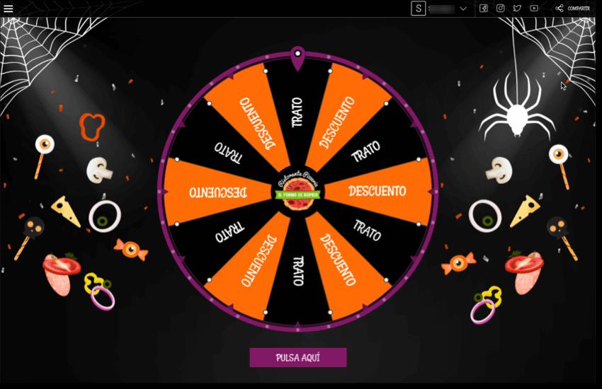 demo ruleta premios pizzeria