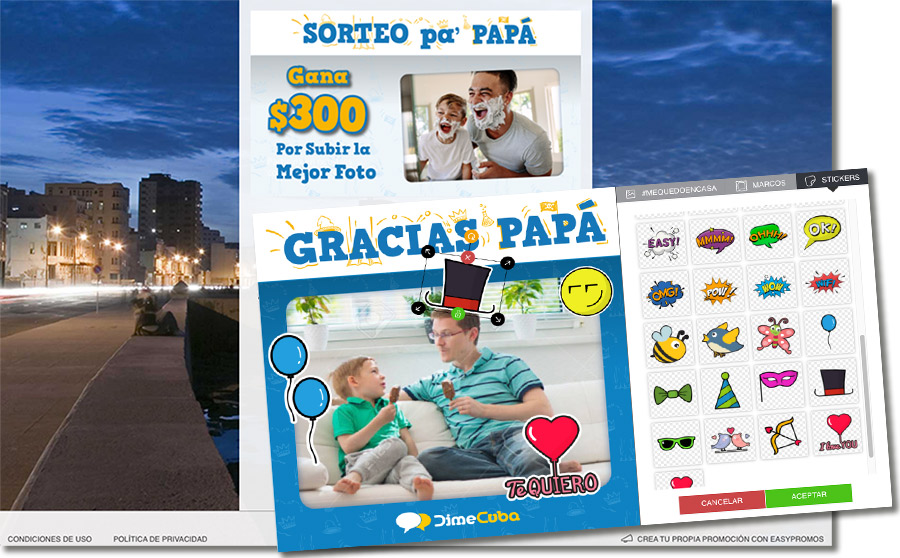 ejemplo de concurso de fotos personalizado del Día del Padre