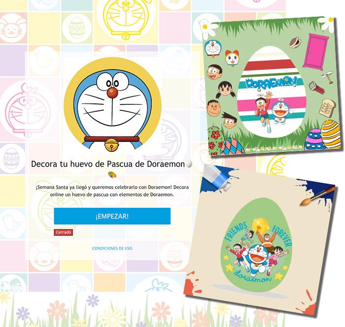 ejemplo de juego online para decorar huevos de pascua