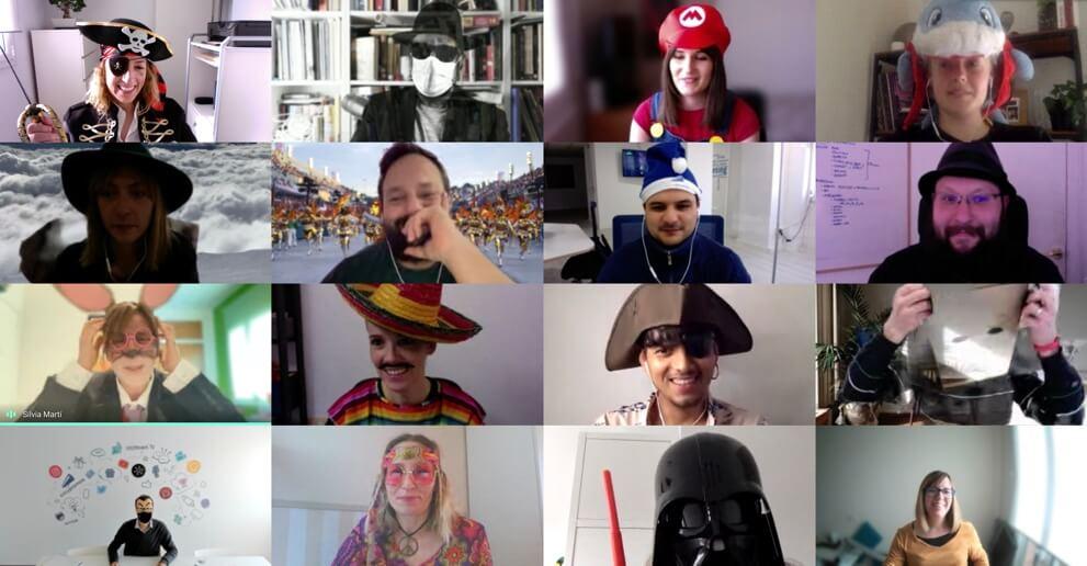 acciones online de team building: ejemplo de videollamada