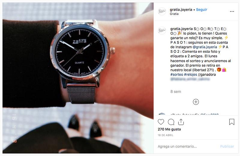 sorteo instagram joyas