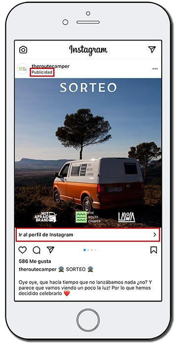 ejemplo de publicidad pagada en redes sociales
