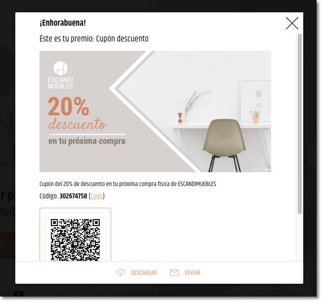 ejemplo de promoción con cupón