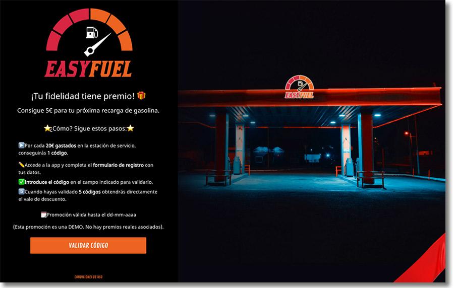 ejemplo de programa de puntos de una gasolinera