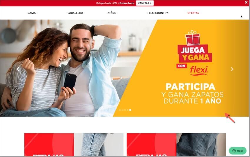 ejemplo de slider promocional en una página web