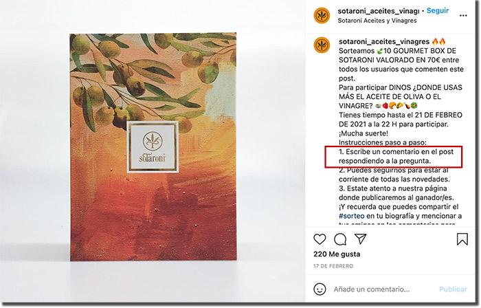 ejemplo de cómo aplicar gamificación en Instagram