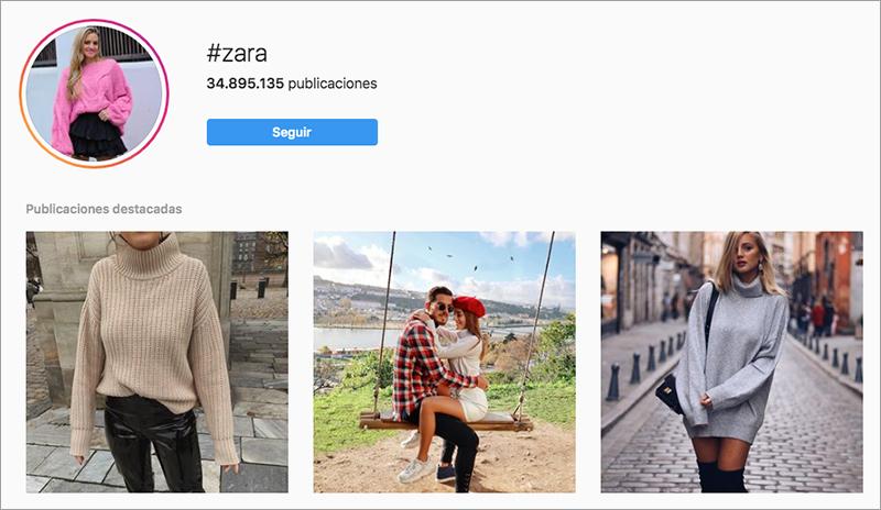 ejemplo influencers Zara