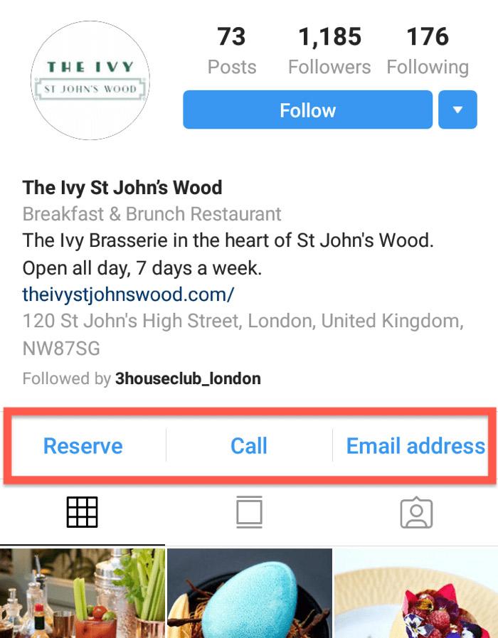 ejemplo botones instagram