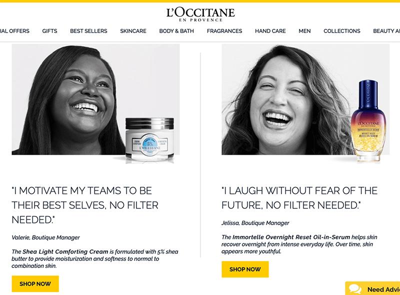 ejemplo campaña con influencers de l'Occitane en Provence