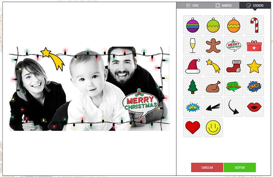 ejemplo de promoción PhotoFun de navidad