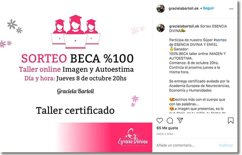 ejemplo de sorteo en instagram para recompensar a la comunidad