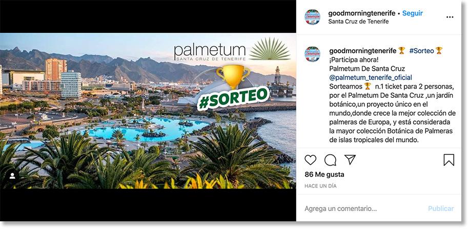 ejemplo sorteo instagram marketing turístico