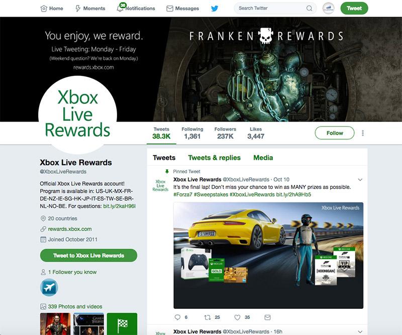 ejemplo perfil promociones twitter