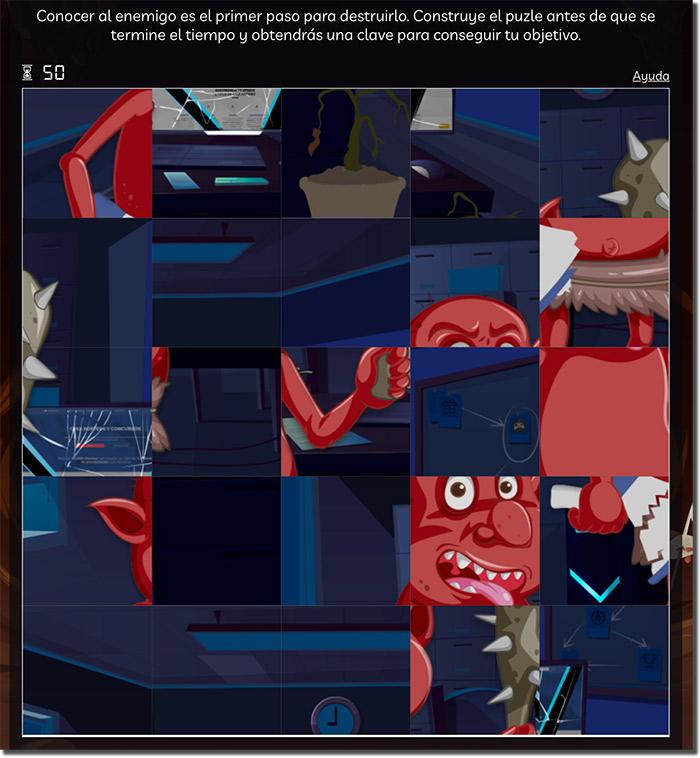juego de memoria de un escape room virtual