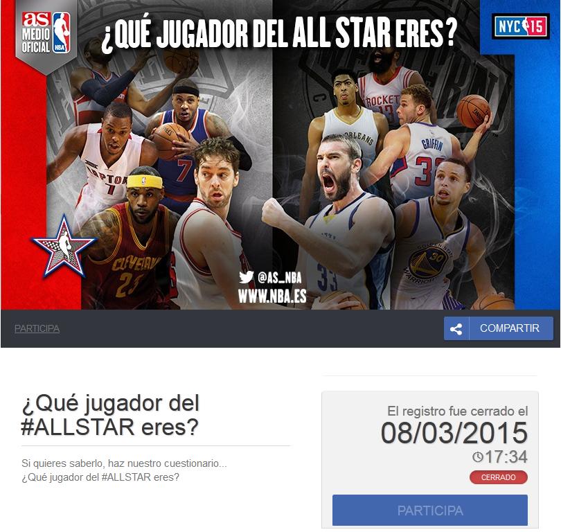 evento deporte online Allstar