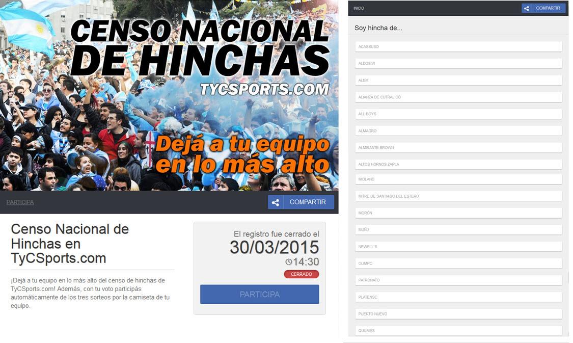 evento deportivo online hinchas argentina