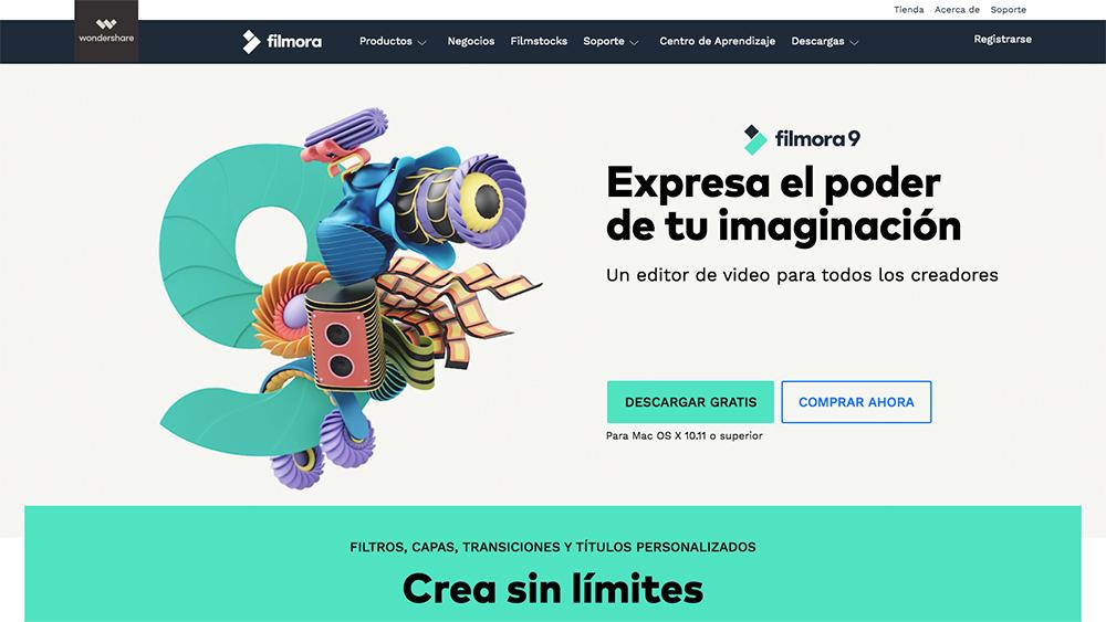 herramienta para crear videos Filmora9