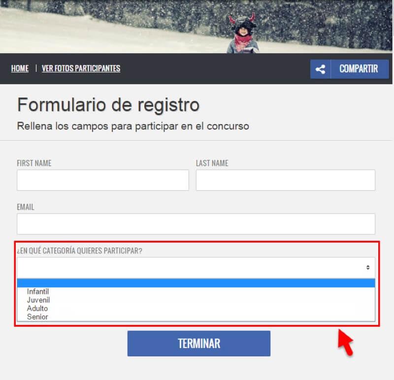 formulario registro concurso