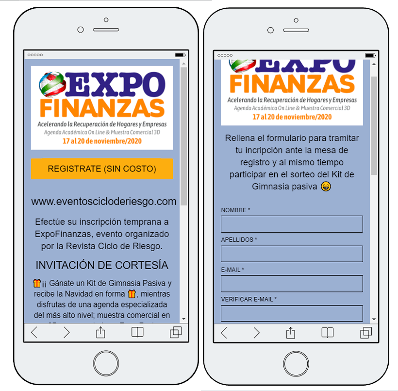 inscripcion evento online con sorteo