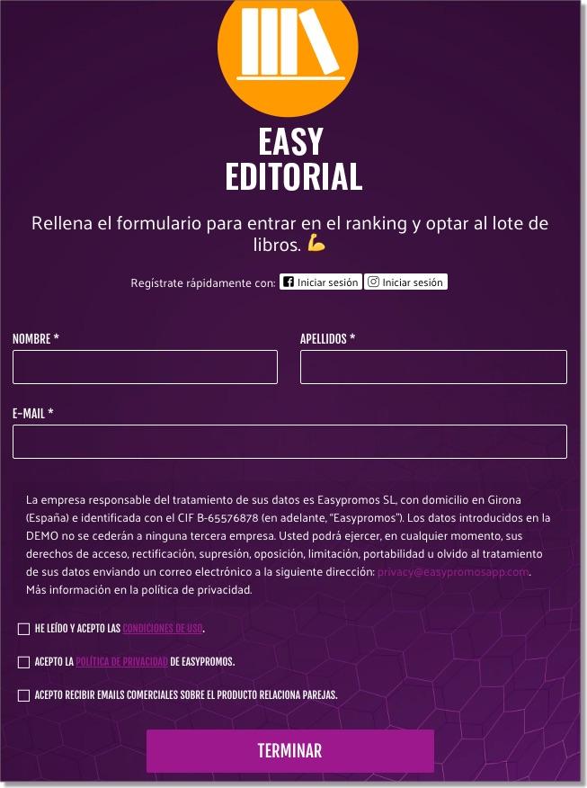 formulario registro juego