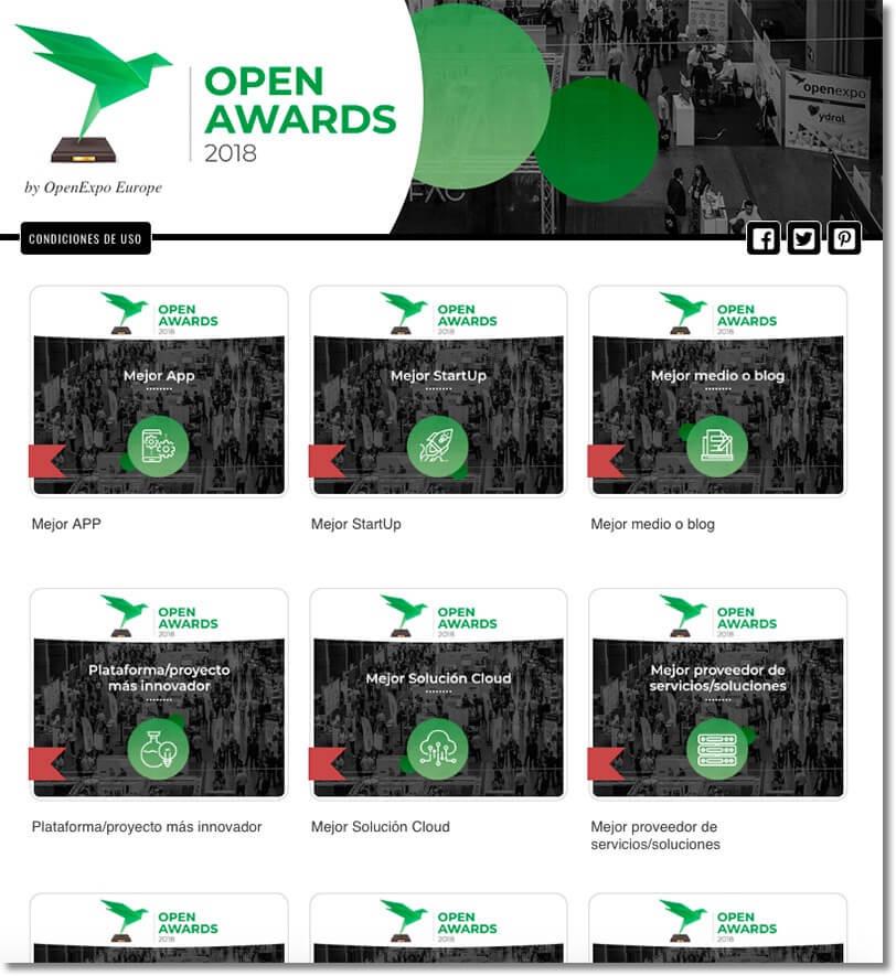 ejemplo premios online