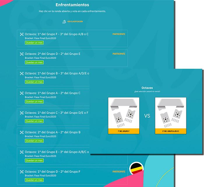 promoción con las diferentes jornadas de la Eurocopa
