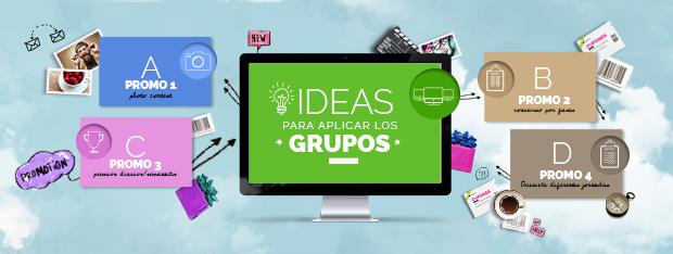 Ideas para aplicar los Grupos de promociones