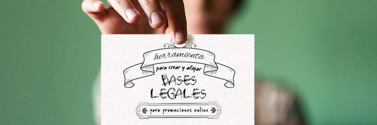 Herramienta para crear bases legales para promociones online