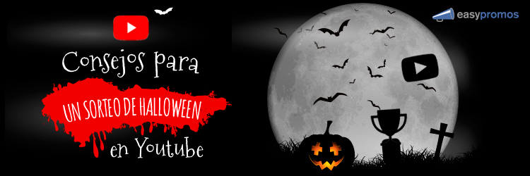 sorteo de Halloween en YouTube
