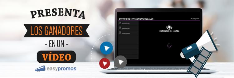 header presenta ganadores en un video