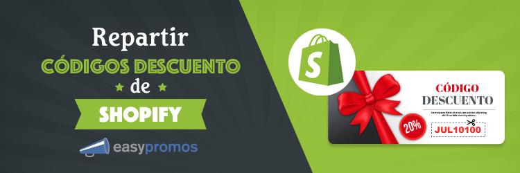 repartir codigos descuento de Shopify
