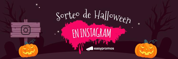 sorteo de Halloween en Instagram