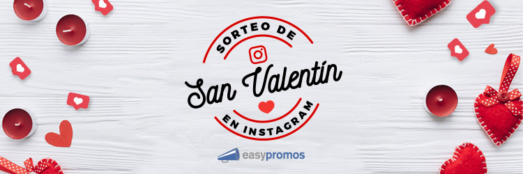 sorteo de San Valentín en Instagram
