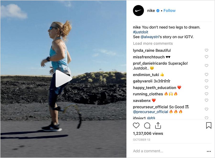 ejemplo de contenidos cruzados en instagram