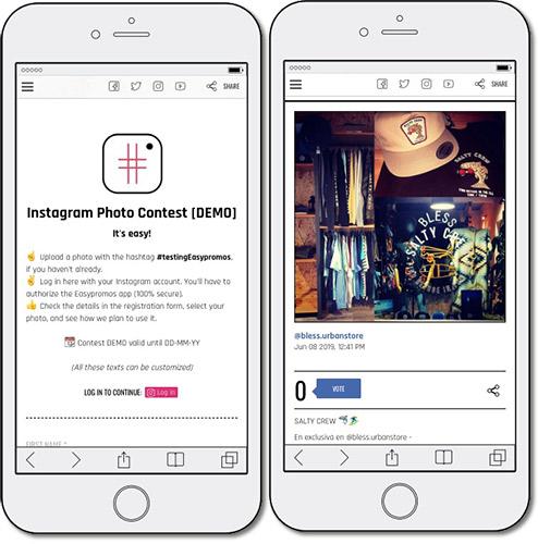 ejemplo de concurso de fotos en instagram