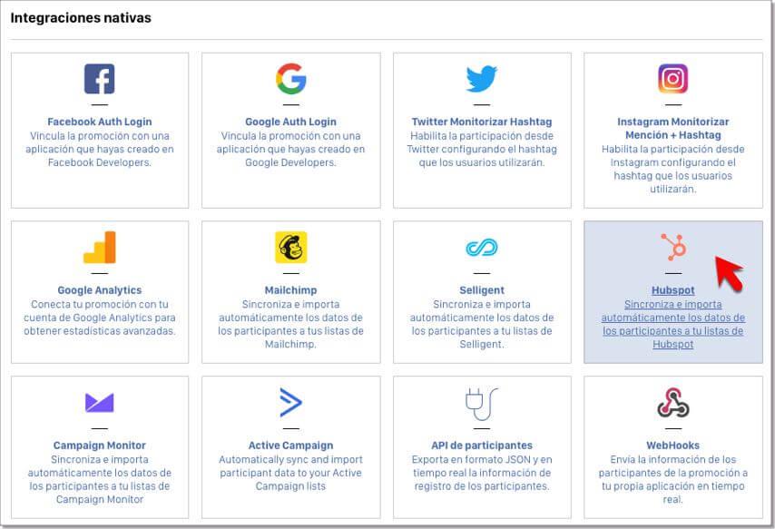 integracion Easypromos HubSpot