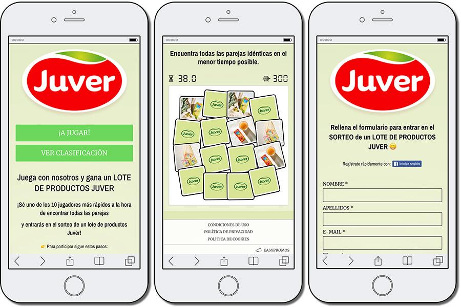 ejemplo de campaña de contenido interactivo Juver