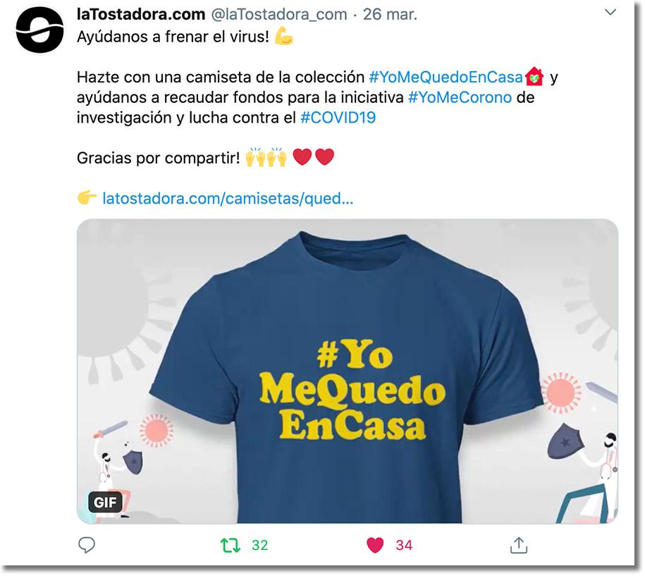 solidaridad en redes sociales durante la cuarentena