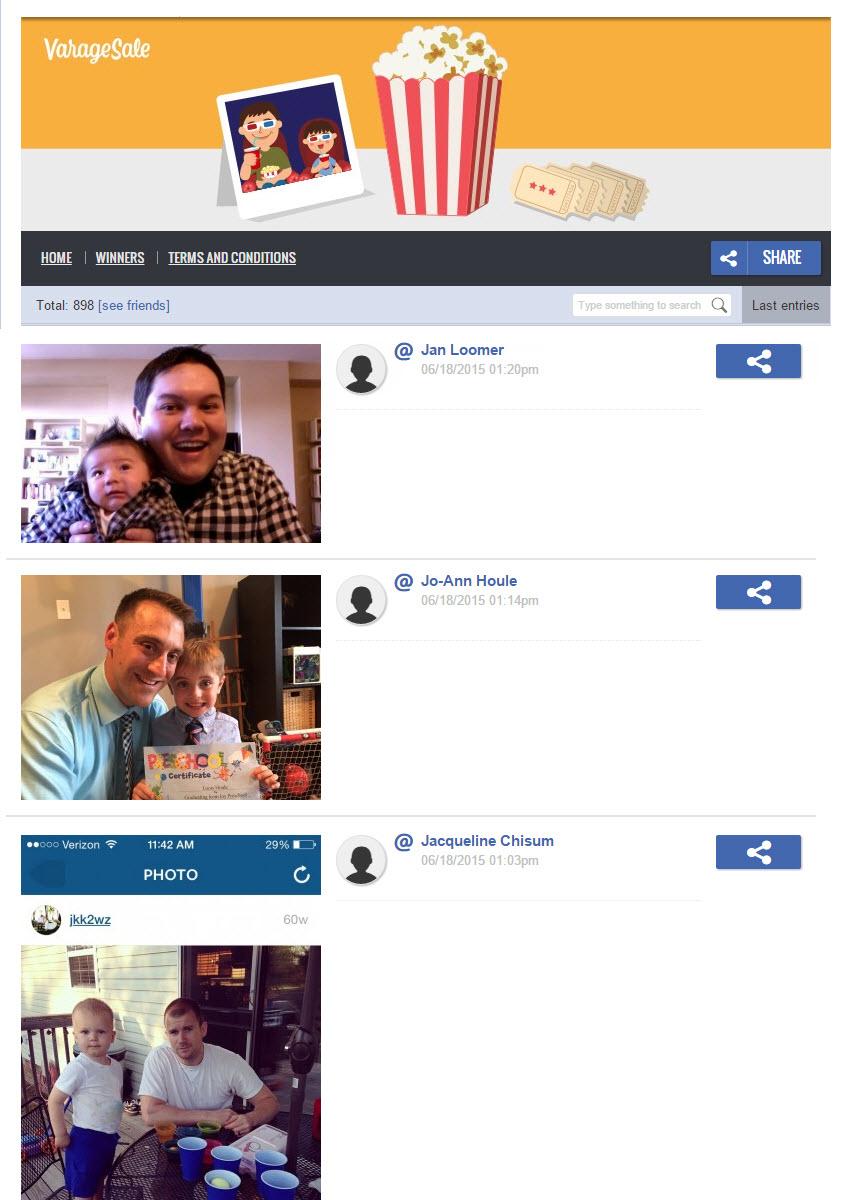 Concurso de fotos en Facebook