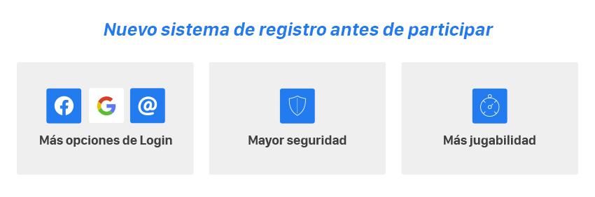 nuevo sistema registro antes participar